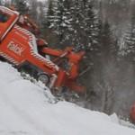 Sjokkvideo: Vogntog tok med seg bergingsbilen – sjåføren hoppet ut i fart