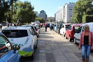 El-bil oppstilling Rådhusplassen